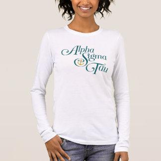 T-shirt À Manches Longues Marque verticale 2 de Tau d'alpha sigma