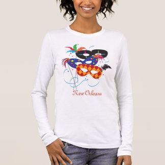 T-shirt À Manches Longues Masques de mardi gras, la Nouvelle-Orléans