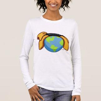 T-shirt À Manches Longues Monde d'Airedale
