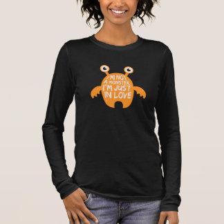 T-shirt À Manches Longues Monstre dans l'amour - pièce en t de Halloween