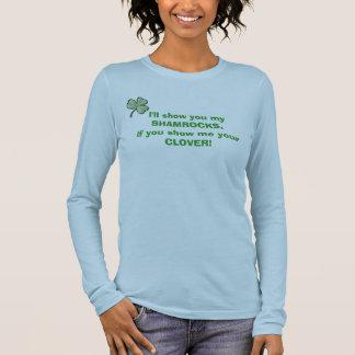 T-shirt À Manches Longues Montrez-moi votre trèfle