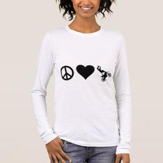 T-shirt À Manches Longues Motocross d'amour de paix