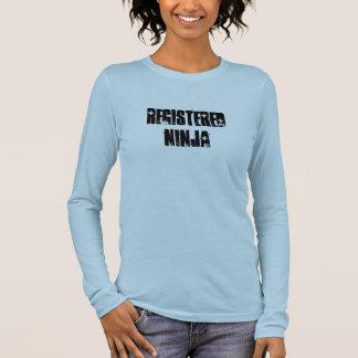 T-shirt À Manches Longues Ninja enregistré (BSN, RN)