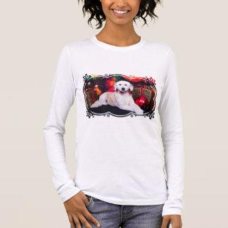 T-shirt À Manches Longues Noël - Maggie - GoldenDoodle
