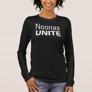 T-shirt À Manches Longues Noonas unissent pièce en t noire de la douille des