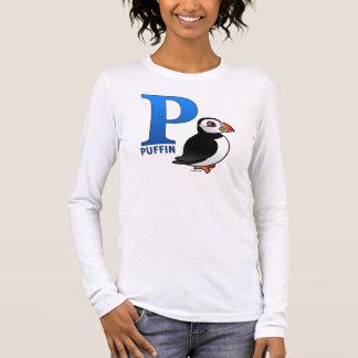 T-shirt À Manches Longues P est pour le macareux
