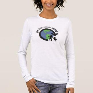 T-shirt À Manches Longues Paix par la chemise à manches longues de jeu