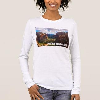 T-shirt À Manches Longues Parc national de Zion d'amour