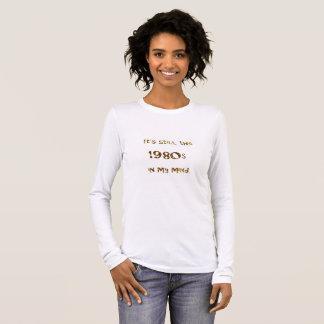 T-shirt À Manches Longues parties scintillantes d'or de nostalgie des années