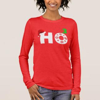 T-shirt À Manches Longues Père Noël rit de Noël