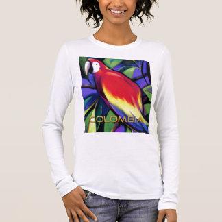 T-shirt À Manches Longues Perroquet colombien