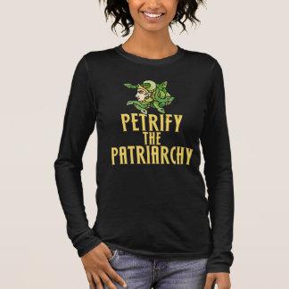 T-shirt À Manches Longues Pétrifiez le féministe de méduse de patriarcat