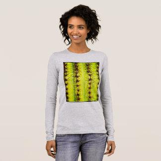 T-shirt À Manches Longues Pièce en t de douille de peau du Saguaro des