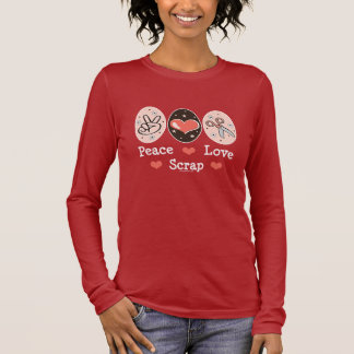 T-shirt À Manches Longues Pièce en t de douille de Scrapbooking de chute