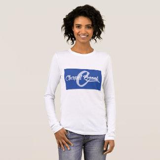 T-shirt À Manches Longues pièce en t de petit morceau de douille de ruisseau