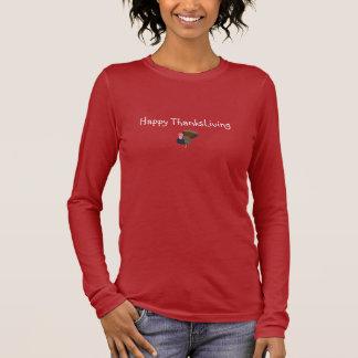 T-shirt À Manches Longues Pièce en t de végétarien de ThanksLiving