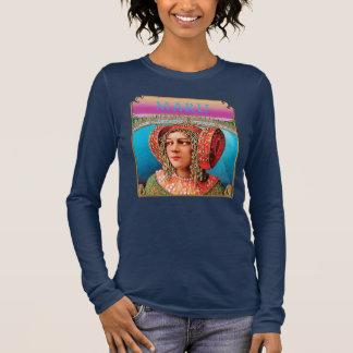 T-shirt À Manches Longues Pièce en t longtemps gainée exotique de Boho de