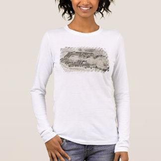 T-shirt À Manches Longues Plan du port d'Ostia Antica, gravé par
