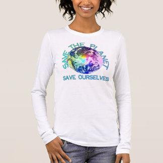 T-shirt À Manches Longues Planète d'arc-en-ciel