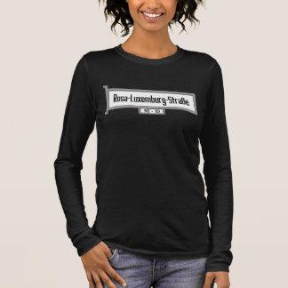 T-shirt À Manches Longues Plaque de rue du Rosa-Luxembourg-Strasse, Berlin