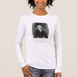 T-shirt À Manches Longues Portrait de James Madison, gravé par William A.