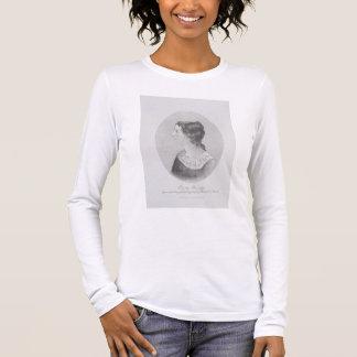 T-shirt À Manches Longues Portrait d'Emily Bronte (1818-48) gravé par Wal