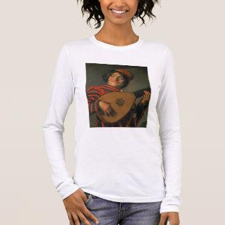 T-shirt À Manches Longues Portrait d'un farceur avec un luth (huile sur la