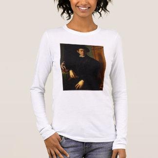 T-shirt À Manches Longues Portrait d'un jeune homme, c.1532-40 (huile sur le