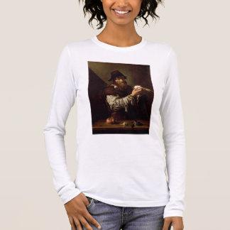 T-shirt À Manches Longues Portrait d'un vieil homme à un oignon (huile sur