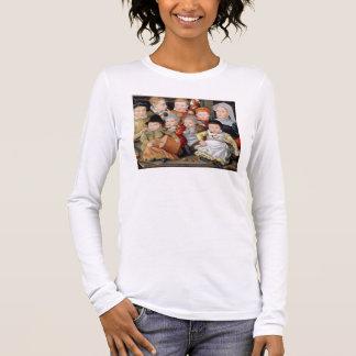 T-shirt À Manches Longues Portrait T33337 d'une mère avec son childre huit