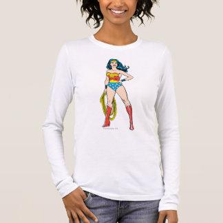 T-shirt À Manches Longues Position de femme de merveille