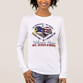 T-shirt À Manches Longues Pour la chemise faite sur commande ambre de
