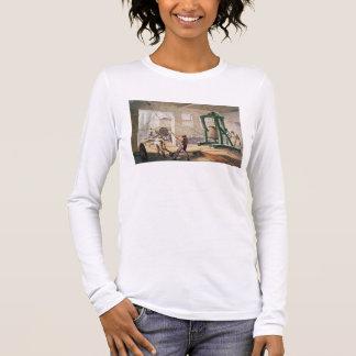 T-shirt À Manches Longues Préparant le câble, 'du Telegraph atlantique