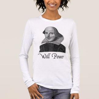 T-shirt À Manches Longues Puissance de volonté de William Shakespeare