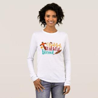 T-shirt À Manches Longues Reconnaissant reconnaissant béni - chemise de