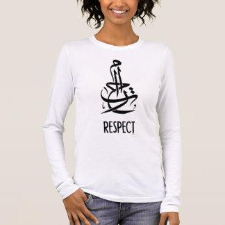 T-shirt À Manches Longues Respect (calligraphie et anglais arabes)