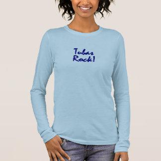 T-shirt À Manches Longues Roche de tubas - lettrage bleu