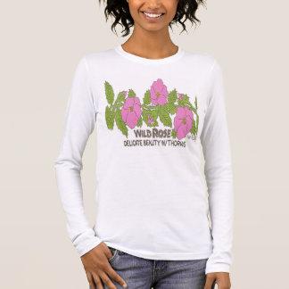 T-shirt À Manches Longues ROSE SAUVAGE, beauté sensible avec des épines