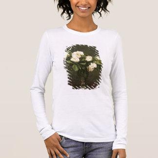 T-shirt À Manches Longues Roses blancs, 1875 (huile sur la toile)