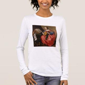 T-shirt À Manches Longues Saint Cecilia (huile sur la toile)