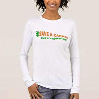 T-shirt À Manches Longues Sauvez une carotte