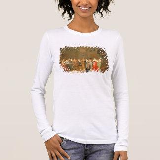 T-shirt À Manches Longues Scène de poursuite, 1644 (huile sur la toile)
