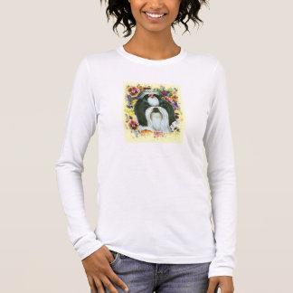T-shirt À Manches Longues Shih Tzu et copie d'art de pensées