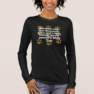 T-shirt À Manches Longues Shih Tzus sont le meilleur ami d'une fille