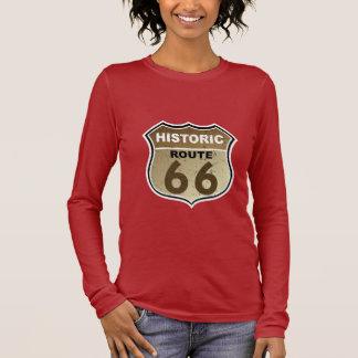 T-shirt À Manches Longues Signe historique de route de l'itinéraire 66