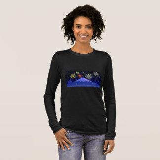 T-shirt À Manches Longues Spiritueux de WQ de la chemise des femmes de Fuji