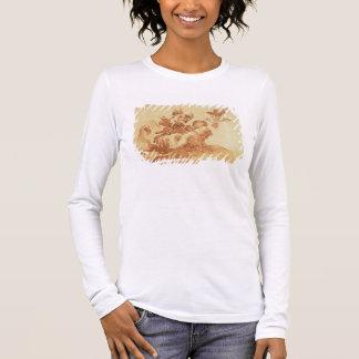 T-shirt À Manches Longues St Joseph adorant l'enfant du Christ (stylo,