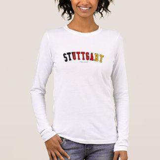 T-shirt À Manches Longues Stuttgart dans des couleurs de drapeau national de