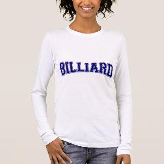 T-shirt À Manches Longues Style d'université de billard
