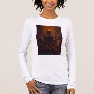 T-shirt À Manches Longues T30554A le moulin à vent brûlant, 1662 (panneau)